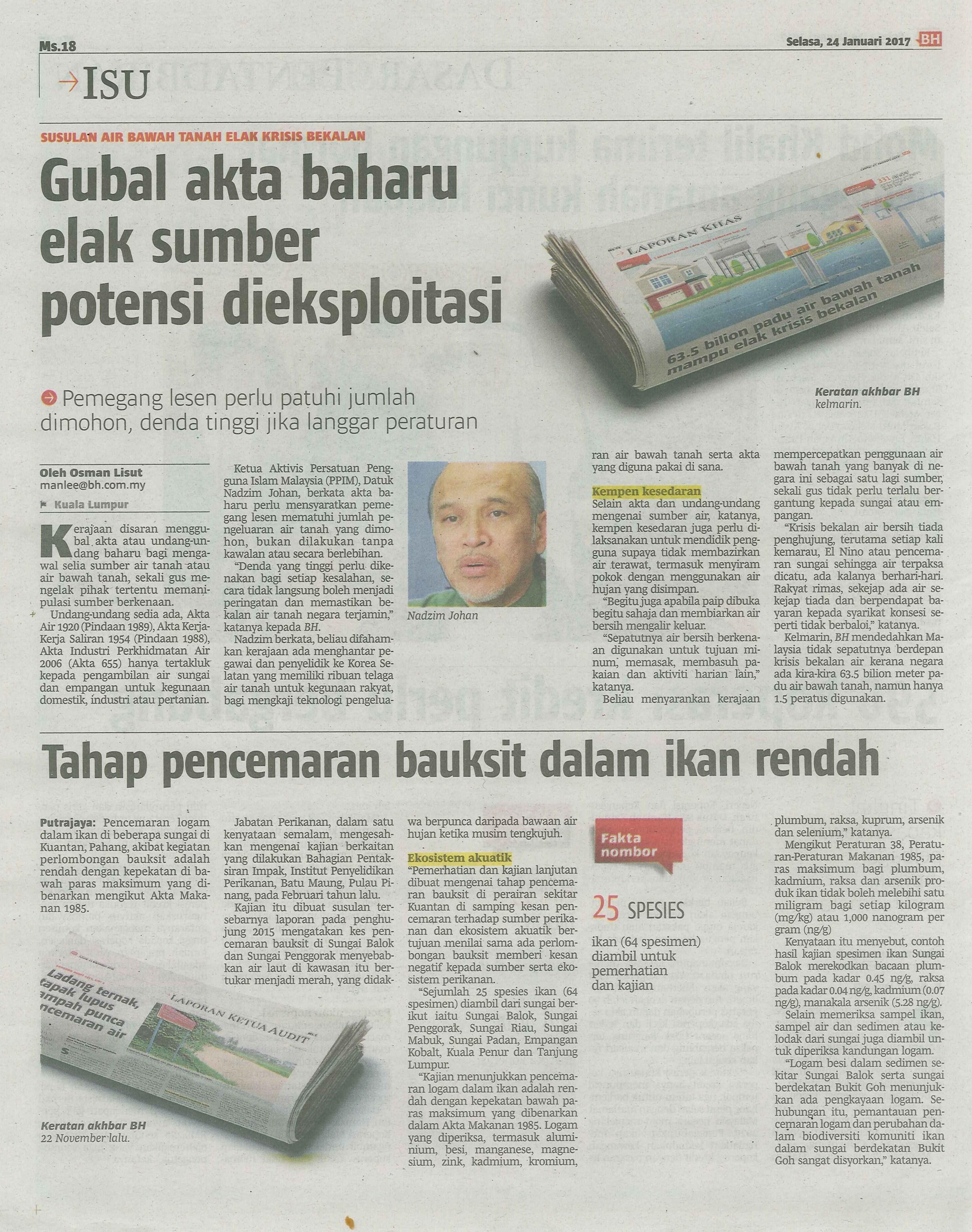 berita harian 24.1.2017