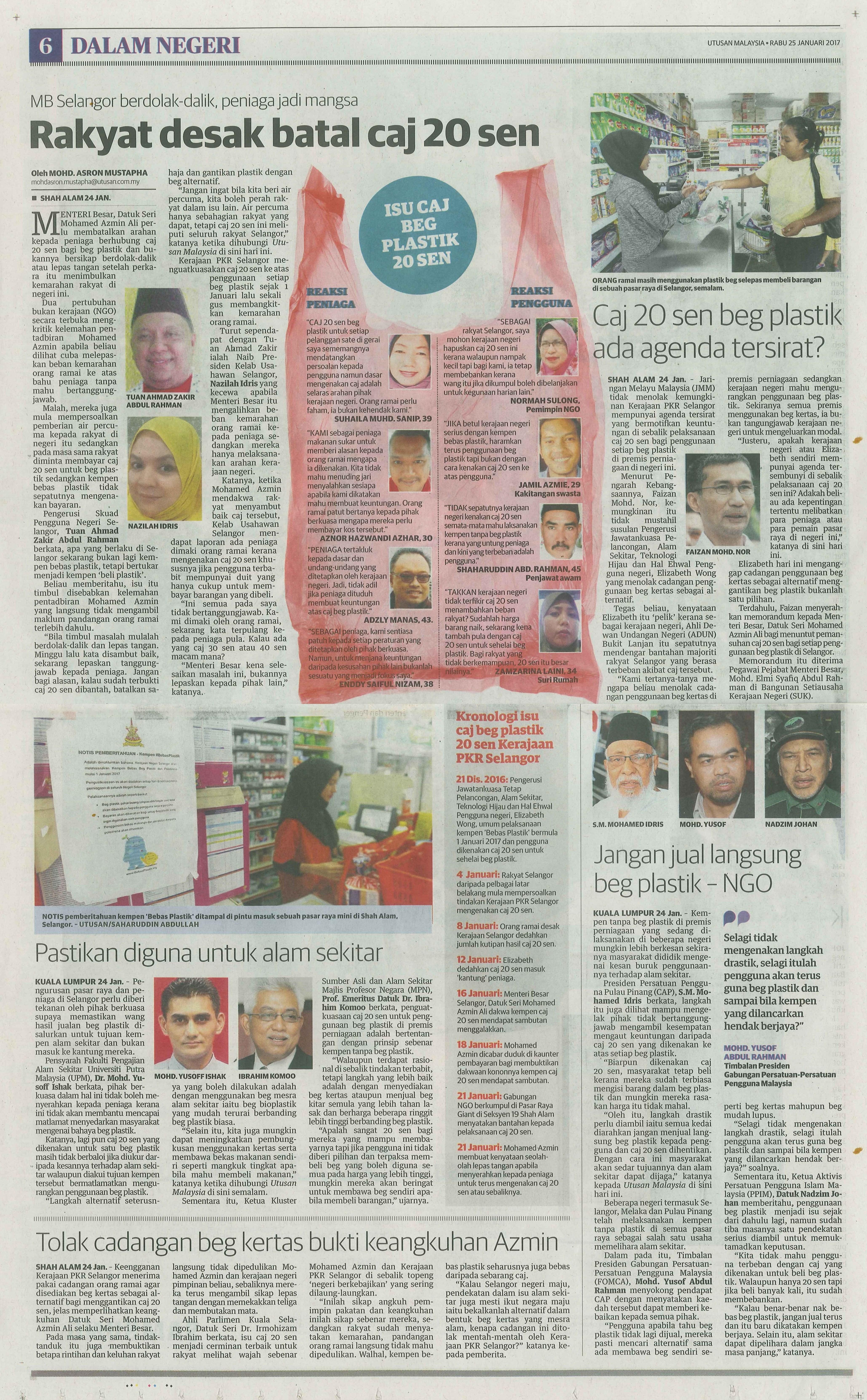utusan malaysia 25.1.2017
