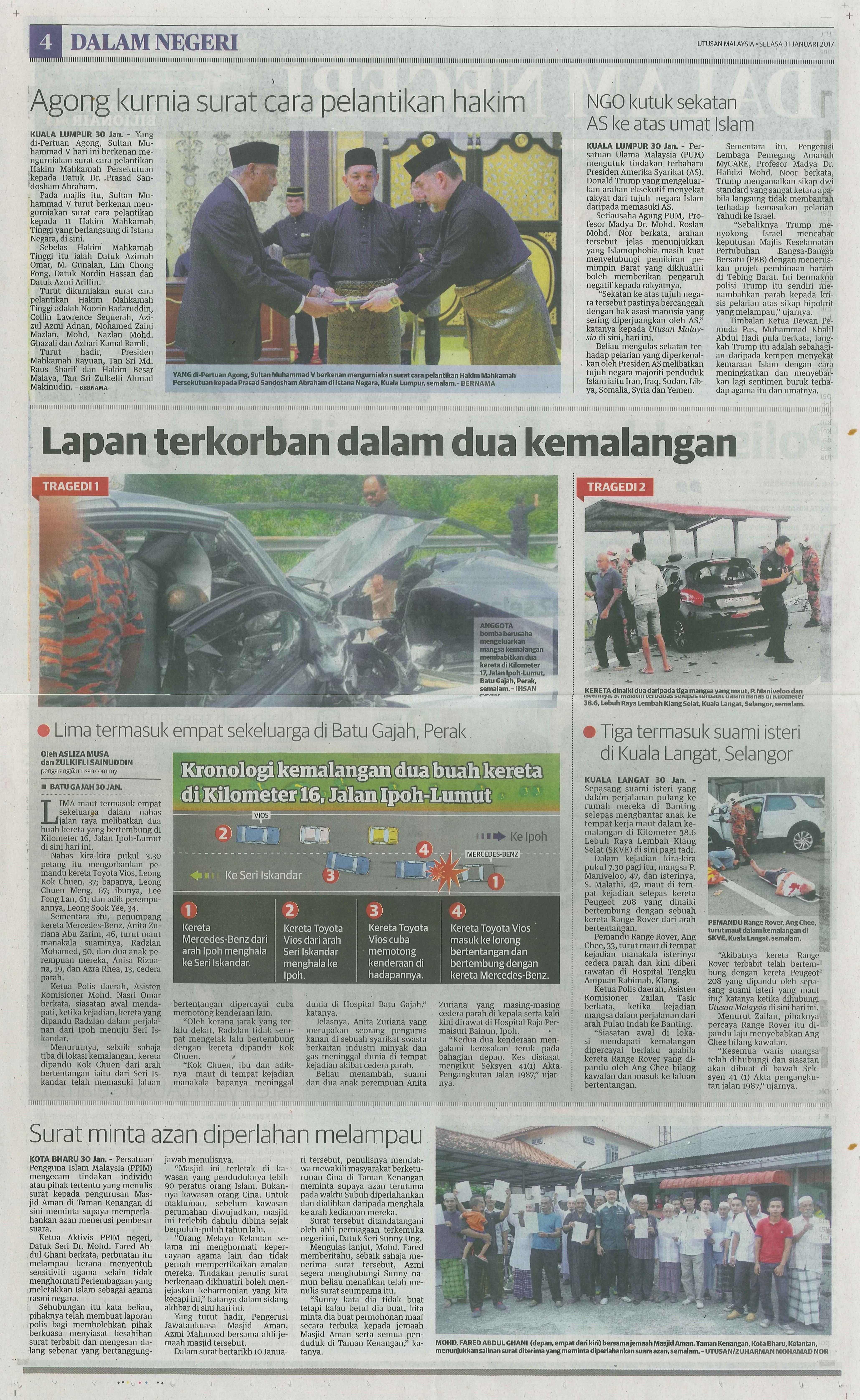utusan malaysia 31.1.2017