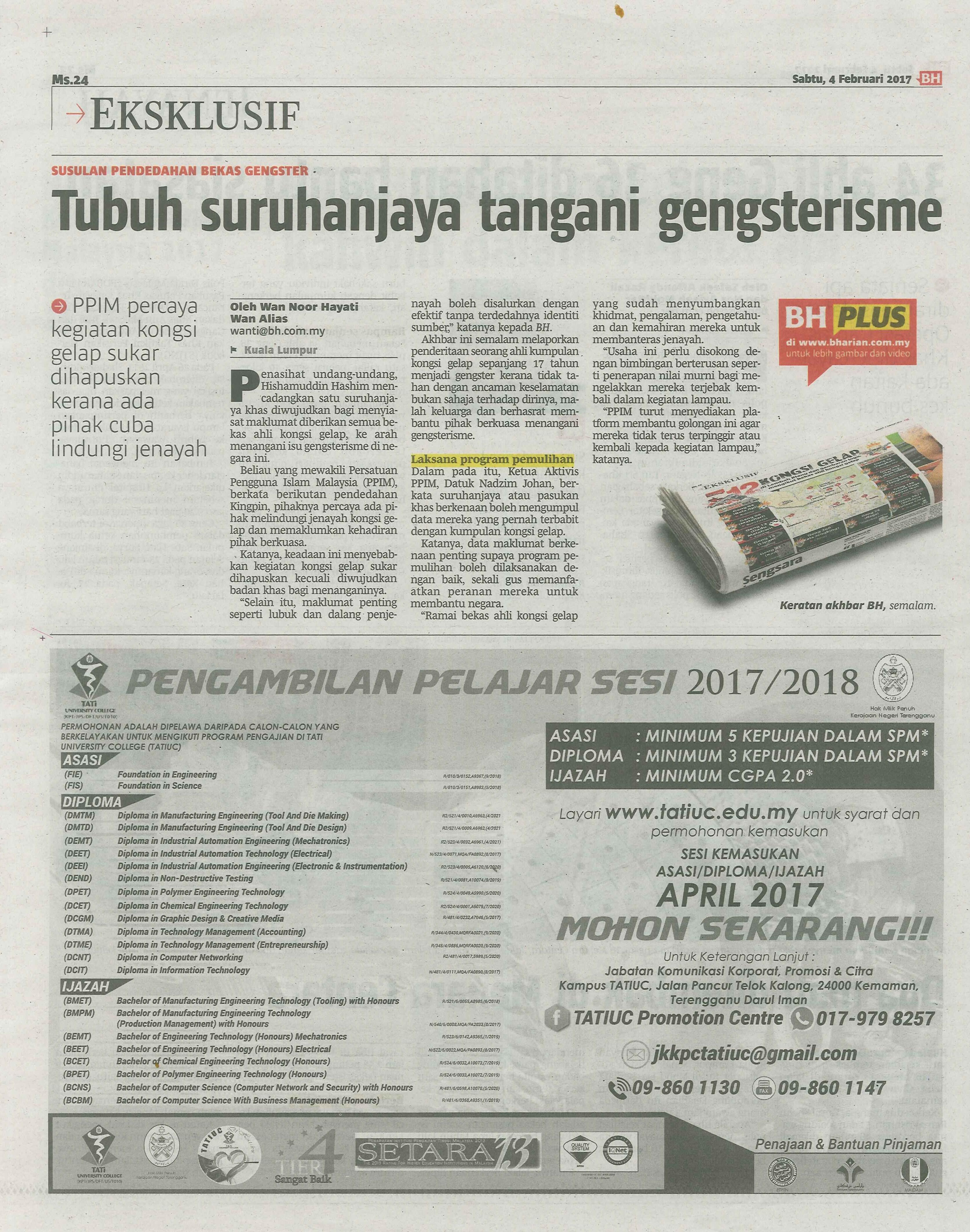 berita harian 4.2.2017