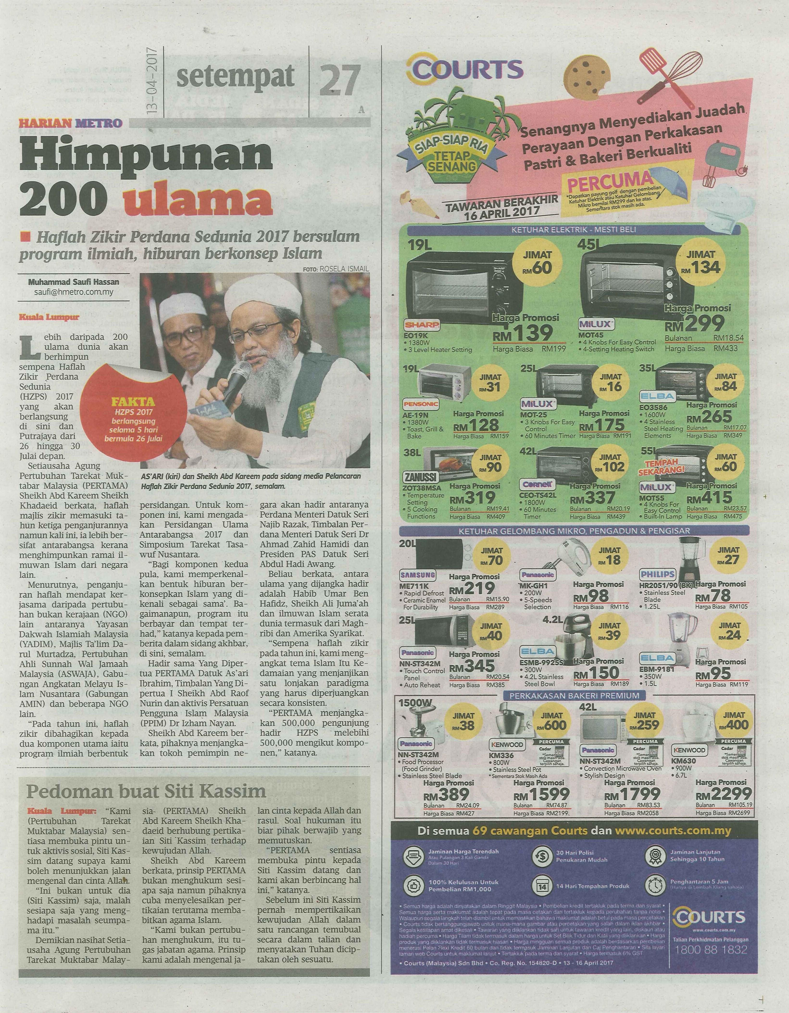 harian metro 13.4.2017