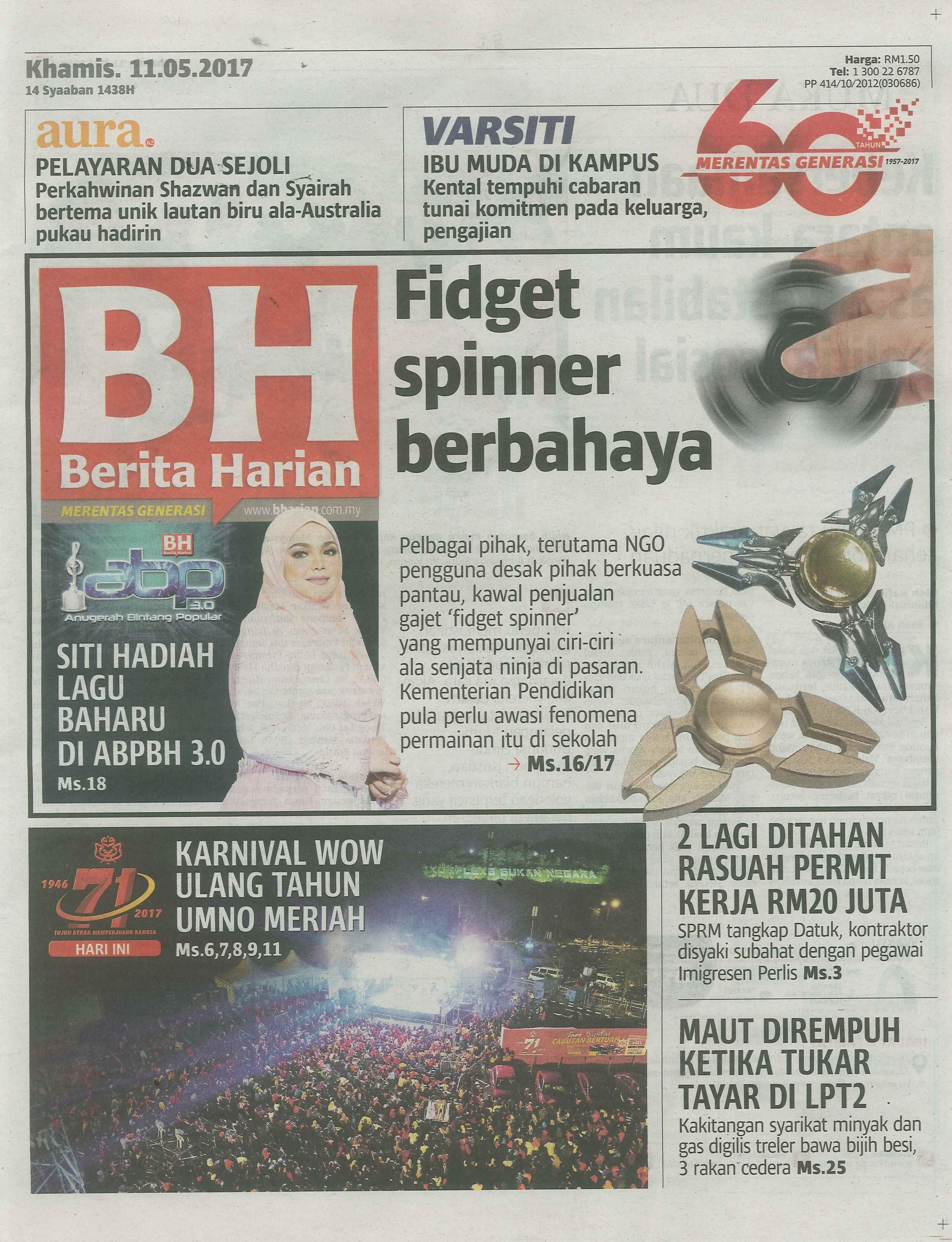 berita harian 11.5.2017