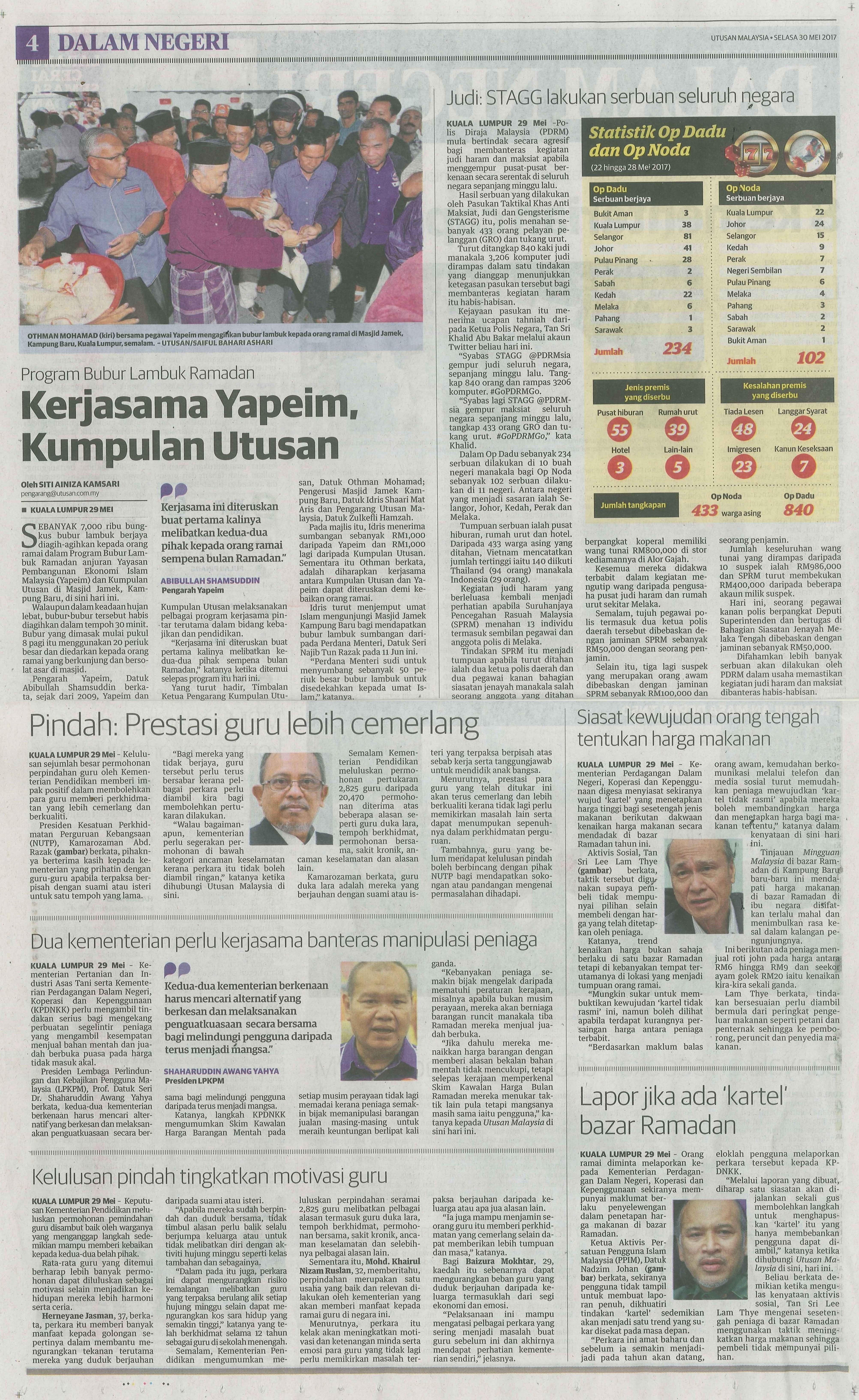 utusan malaysia 30.5.2017