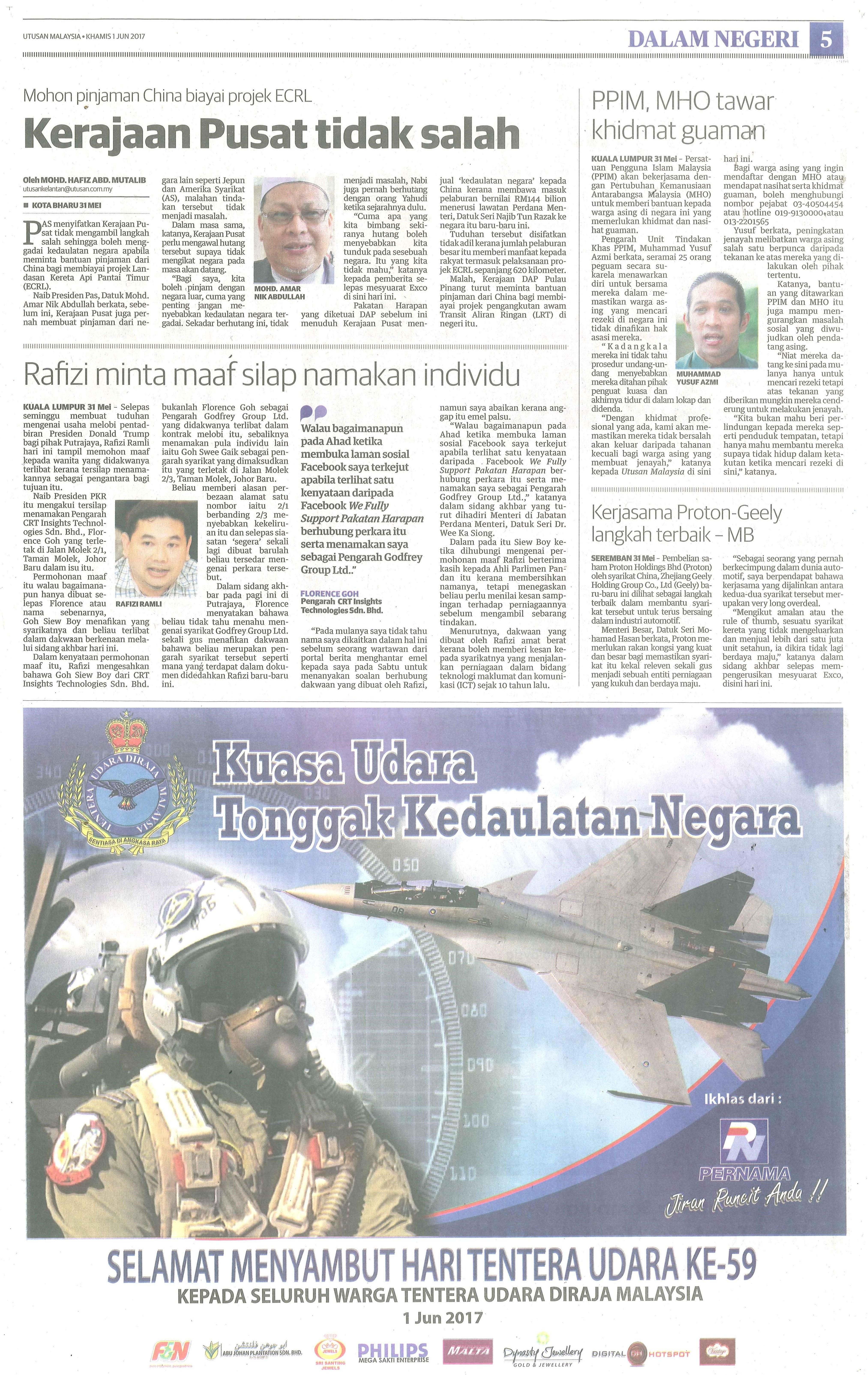 utusan malaysia 1.6.2017