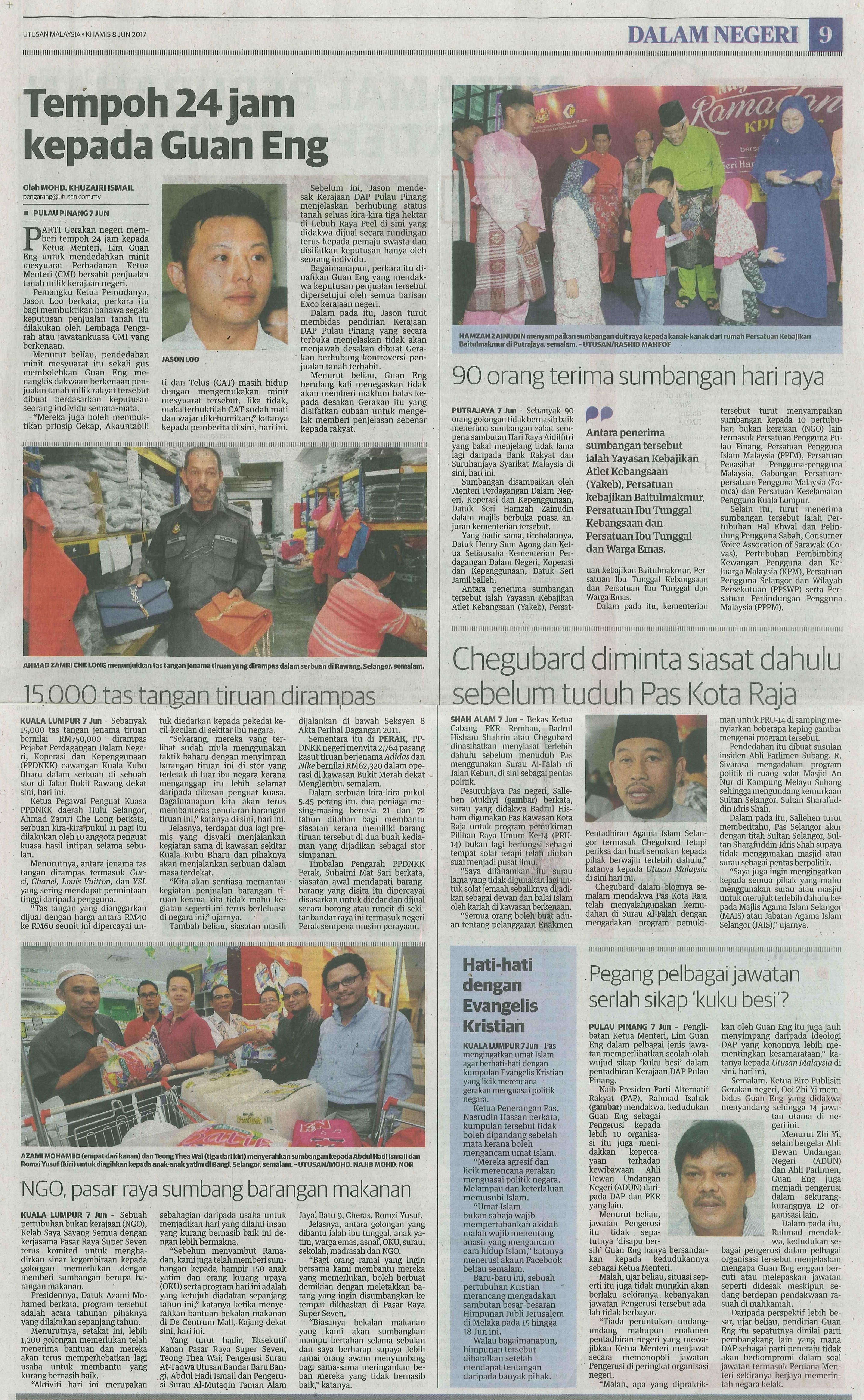 utusan malaysia 8.6.2017