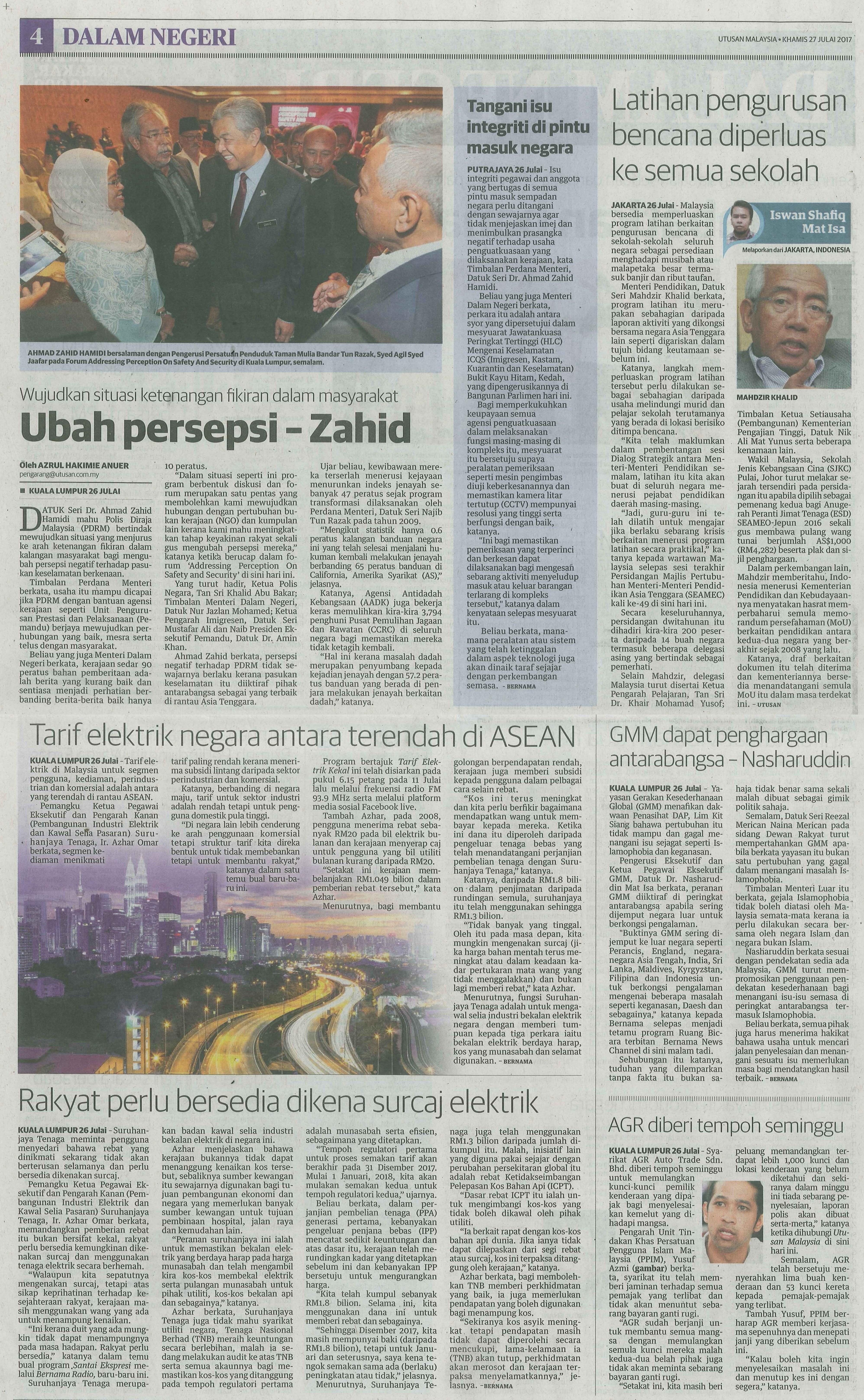 utusan malaysia 27.7.2017